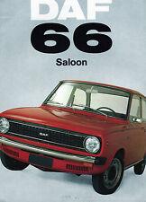 1973 DAF 66 Saloon Sales Catalog