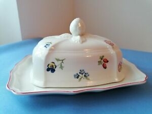 Villeroy Boch Petite fleur - Butterdose mit Deckel - sehr guter Zustand