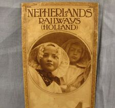 Netherlands Railways Holland Antique Brochure Vintage Early 1900s Travel Booklet
