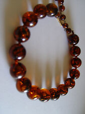 W. Germany Amber Vintage necklace hallmarked clasp  @