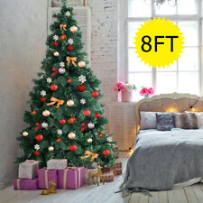8ft artificial pvc christmas tree wstand holiday season indoor outdoor green