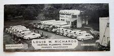 Vintage 1940s Blotter Louis M Richards Property Management Old Trucks