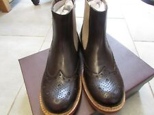 Mens London Brogues Brunswick Leather Chelsea Goodyear Welted Boots size 10