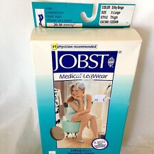 Jobst Women Silky Beige XL Compression Thigh Stockings 20-30 mmhg Silicone Lace