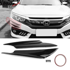 Universal Front Bumper Lip Canards Splitters 2Pc V1 B Style 36CM - Glossy Black