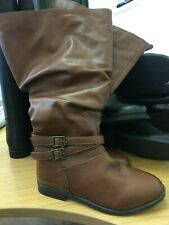 SOLE DIVA  buckle Boots extra curvy calf uk size 4 (37) brand new