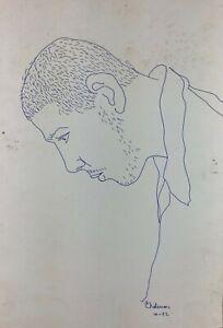 Carlos Rodriguez Cardenas. Drawing, Untitled, 1982. Ink on cardboard. Signed