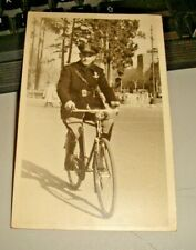 foto form. cartolina anni '30 UFFICIALE M.V.S.N. IN BICICLETTA originale