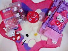 NEW Hello Kitty 18 pc Bathroom Bath Set  Shower Curtain Hooks Rug Towels & More!