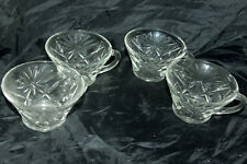 Early American Prescut Anchor Hocking Star of David Punch Cups EAPC Crystal Four