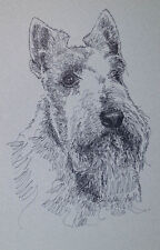 Scottish Terrier Dog Art Portrait Print #236 Kline adds your dogs name free.