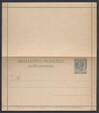 STORIA POSTALE REGNO 1919 Biglietto Postale 15c Leoni NUOVO (E7)