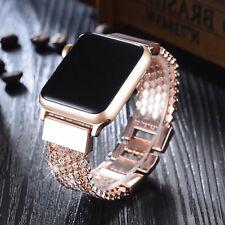 38/40mm Crystal Diamond Bracelet iWatch Band Apple Watch Series 5 4 3 2 1 Rose