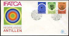Netherlands Antilles 1982 Air Traffic Controllers FDC First Day Cover #C26729