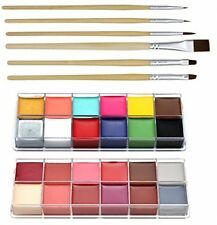 CCBeauty Professional Face Paint Oil 24 Colors Body Painting Art Party Fancy Up
