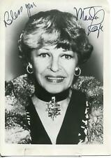 MARTHA RAYE COMIC ACTRESS BOSS AS WITCH IN PUFNSTUF SIGNED PHOTO AUTOGRAPH