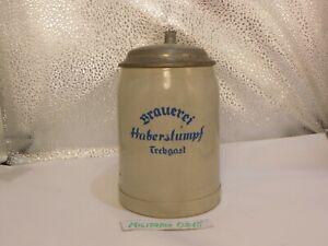 Alter Seltener Bierkrug Brauerei Haberstumpf Trebgast Bayern ca 1920