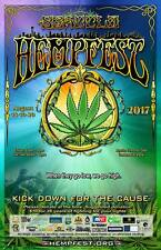 Seattle HEMPFEST® Official 2017 Kick Down For The Cause Poster