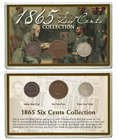 3 Coin Set 1865 Six Cents Collection Good-Fine SKU51699