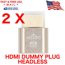 2 X HDMI dummy plug Display Emulator Headless Ghost 1920x1080 4K Mining Server