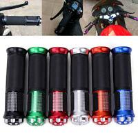 "Aluminum 22mm 7/8"" Hand Grips Handle Bar For Motorcycle Dirt Pit Bike ATV Quad"