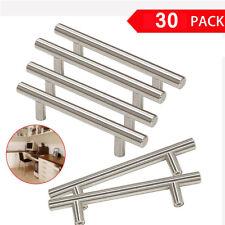 Kitchen Cabinet Door Handle Set: Modern Satin Nickel Stainless Steel Handles