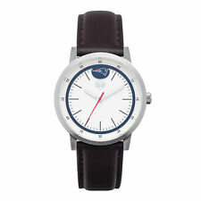 New England Patriots Jack Mason NFL Unisex Brown Leather Strap White Dial Watch