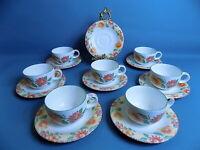 Royal Doulton Expressions  Sunburst 7 Tea Cups & 8 Saucers