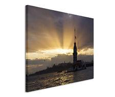 120x80cm Leinwandbild auf Keilrahmen Maidens Tower Istanbul
