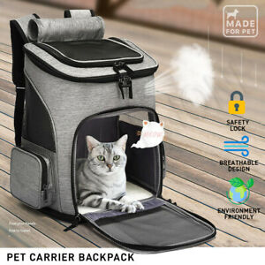 【Spacious】Dog Cat Pet Carrier Backpack Travel Bag Front dogs Outdoor Bike