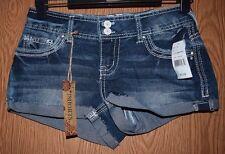 Womens Prefaded Mid Rise Denim Amethyst Short Shorts Size 1 NWT NEW