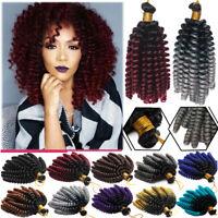 Lady Crochet Jumpy Jamaican Bounce Braids Spiral Wand Curl Hair Extensions Twist