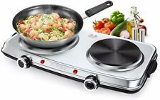 SUNAVO Hot Plate for Cooking Electric Hob Portable Hotplate Cooktop Double