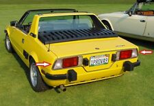 FIAT X 1/9 1.3 1.5 BERTONE ABARTH ITALIAN CLEAR TURN SIGNALS TAIL LIGHTS LENSES