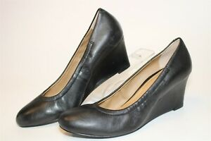Vionic Camden Womens 9.5 41.5 Leather Slip On Wedge Pumps Comfort Shoes TVW5006