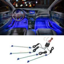 4pc LEDGLOW BLUE LED INTERIOR UNDER SEAT DASH GLOW NEON LIGHTING KIT w 72 LEDs
