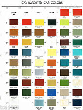 1973 Mercury CAPRI / Dodge COLT COLOR CHIP SAMPLE PAINT CHART Brochure