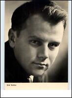 Starfoto Porträt Kino Fernsehen Cinema Film Schauspieler 1965 ERIK VELDRE Foto