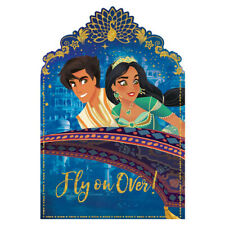 ALADDIN INVITATIONS (8) ~ Birthday Party Supplies Stationery Cards Notes Disney