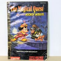 The Magical Quest SNES Super Nintendo Original Instruction Booklet Manual