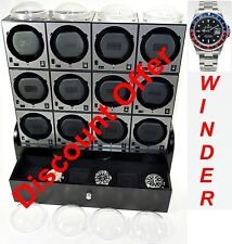 """Boxy"" Brand Brick Automatic Watch Winder System for Twelve Watches - (12B4)"
