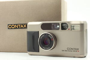 [Near MINT in Box]  Contax T2 Silver 35mm Point & Shoot Film Camera JAPAN b6
