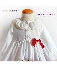 DIY-PDF SEWING PATTERN for making Peplum assymmetrical blouse Baby Infant Girl