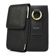 CELL PHONES VERTICAL LEATHER POUCH CASE COVER BELT CLIP HOLSTER WITH CARD HOLDER