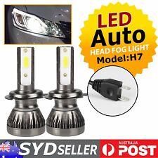Pair Auto Headlights Bulb Led Light H7 Conversion Kit 6000K Enhances Visibility