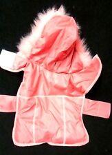 Small Dog Pink Fur Hood Female Winter Jacket Coat Doggie Coat Used
