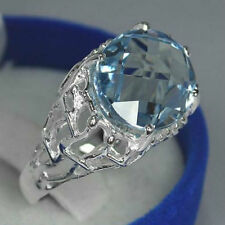 Oval Topaz Solitaire Not Enhanced Fine Gemstone Rings