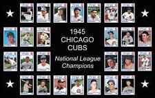 1945 Chicago Cubs World Series Baseball Card Poster Print Decor Team Art Gift