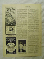 1949 Magazine Ad Page My-T-Fine Lemon Pie Filling Bake King Ames Selftester