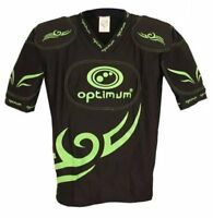 Optimum Tribal Five Pad Long Protective Padded Top Rugby Black Green New